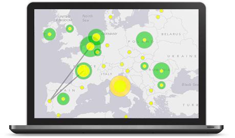 Obtén una visión geográfica sobre las Redes Sociales
