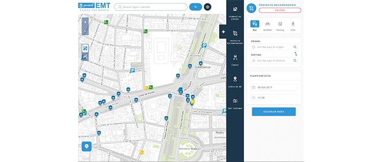 EMT Madrid lanza una nueva versión de Navega por Madrid