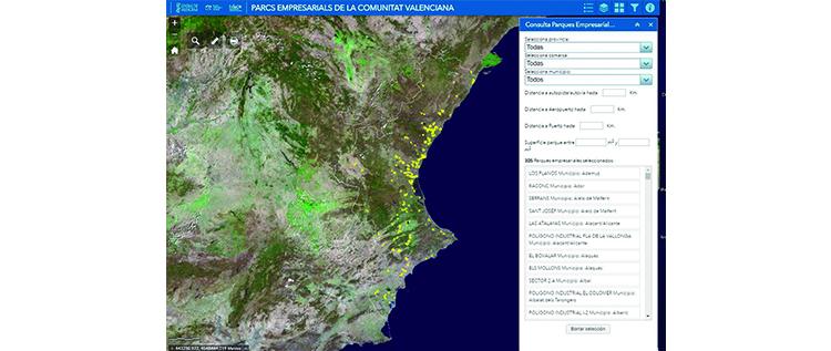El IVACE lanza el Mapa del Suelo Industrial de la Comunidad Valenciana