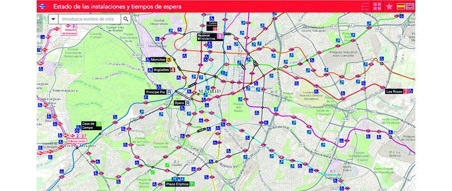 Esri España desarrolla una aplicación web para los viajeros de movilidad reducida de Metro de Madrid