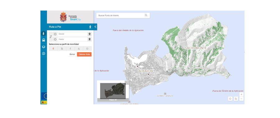 Granada crea una app para turistas y ciudadanos con movilidad reducida