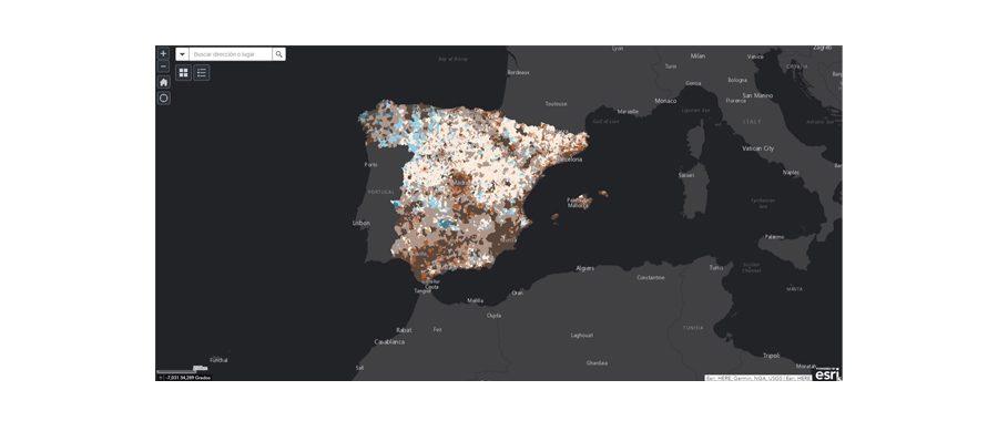 "Esri España lanza ""La España vacía"", un portal de datos sobre despoblación"