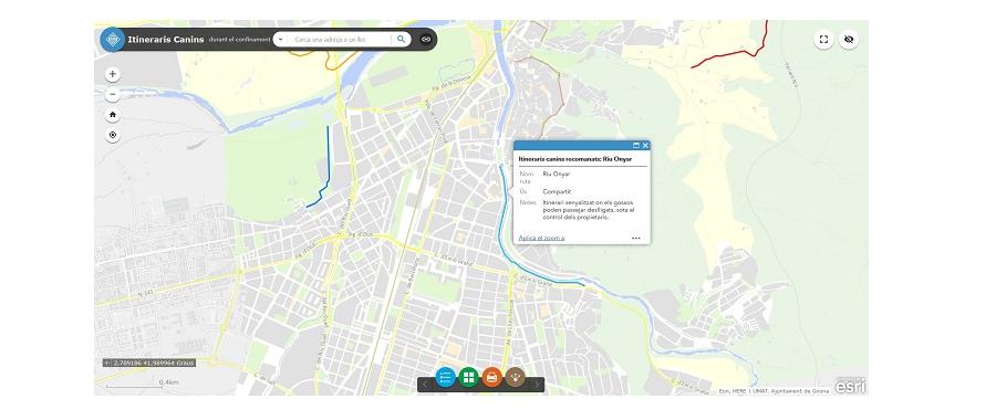 Girona lanza mapas de servicios esenciales con tecnología de Esri para informar a la población durante el estado de alarma