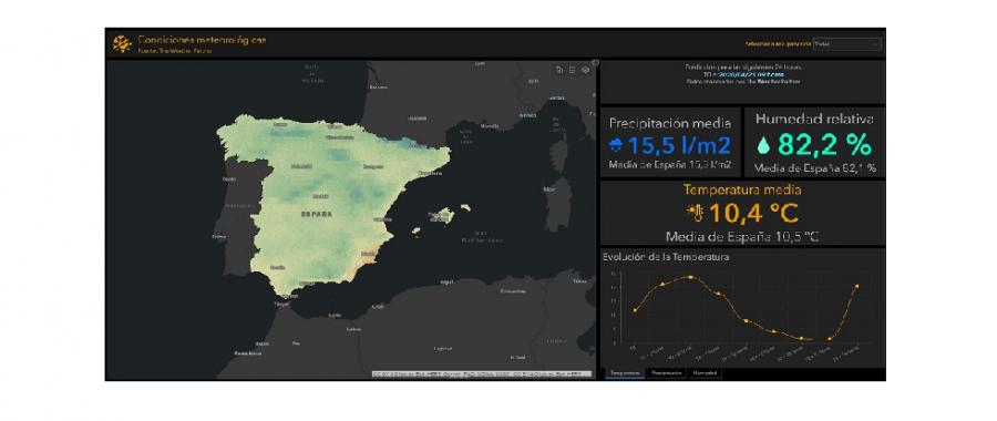Esri España y The Weather Partner lanzan un servicio de predicción meteorológica gratuito en formato ArcGIS