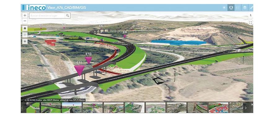 Ineco recibe el Premio Esri en GIS por la integración BIM-GIS en el proyecto de la Autovía A-76