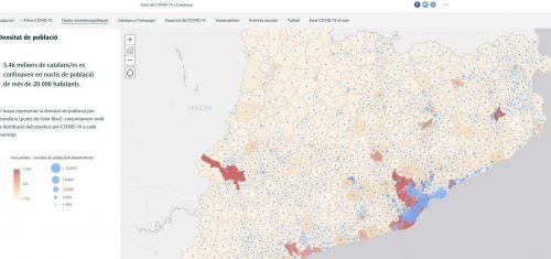 Esri lanza un story map sobre el impacto del coronavirus en Catalunya mediante el uso de datos abiertos
